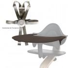 Nomi by Evomove Nomi Highchair + Mini Restraint - White Oak / Black
